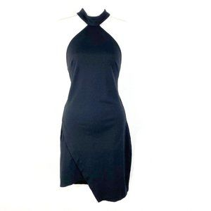 Express halter body con knit dress mini sheath